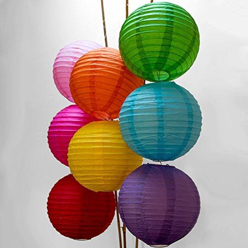 TankerStreet Laternen Deko Papier für Kinder, Laternen Kerzenhalter Klein Papier Draußen 8er Set Gemischte Farben, Laternen zum Aufhängen Wohnaccessoires