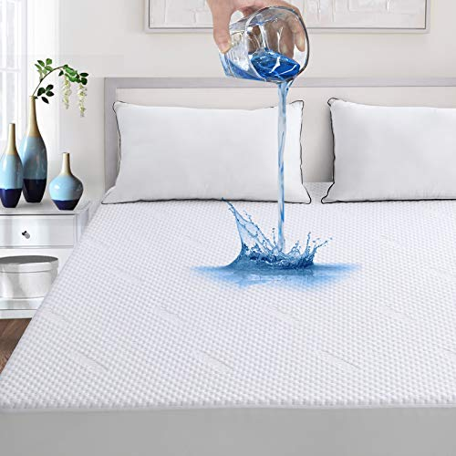 """Waterproof Queen Bamboo Mattress Protector -Breathable, Vinyl-Free, Noiseless & Ultra Soft Premium Cooling Mattress Cover Pad,3D Air Fabric,Fitted 8""""-21"""" DeepPocket"""