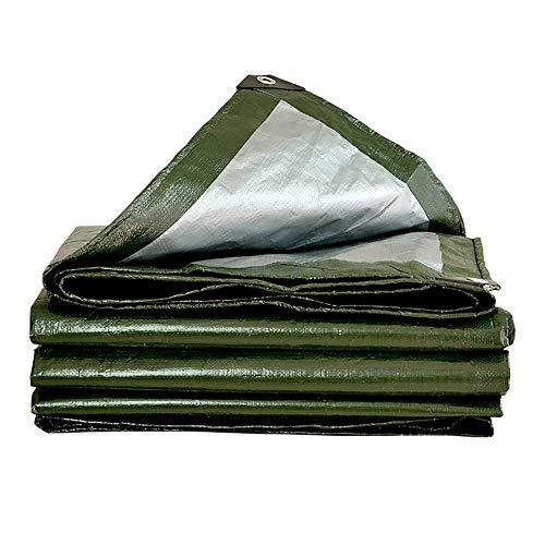 Shade poncho dikker outdoor zeildoek vrachtwagen overkapping zeildoek isolatie kunststof regendoek camping 3mx6m groen