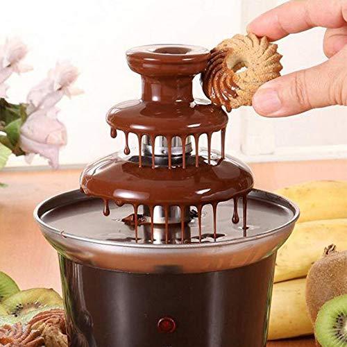 Fuente de fondue de chocolate, 3 niveles de chocolate, calentador de chocolate, fuente de fondue para fiestas, perfecto para queso nacho, salsa barbacoa, rancho, licores