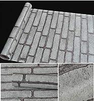新しい10メートル* 45cmポリ塩化ビニールの壁紙の自己接着レンガの壁紙ウォールステッカー家具改装された防水リビングルームベッドルーム-A17B_幅10mx45cm