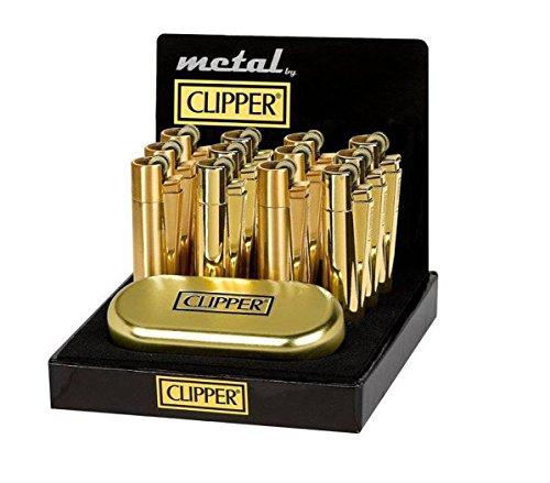 2x Clipper Feuerzeug Feuerzeuge Original Clipper Lighter Regenbogen Gold