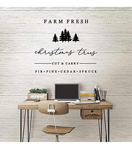 Farm Fresh Christmas Trees Vinyl Wall Words Decal Sticker Graphic