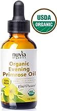 Nuvia Organics Evening Primrose Oil - USDA Certified Organic, Cold Pressed, Food Grade - Virgin - 100% Pure & Unrefined, 1 Oz