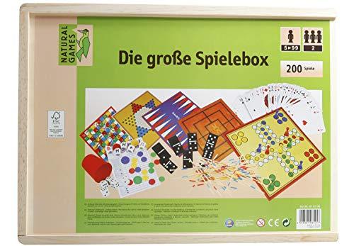 VEDES Großhandel GmbH - Ware 61101195 Natural Games Holz-Spielesammlung 200 in 1