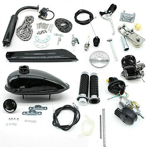 Aohuada Fahrrad Motor Kit Gas Motorisierte 80cc 2 Stroke Gas Fahrrad Umrüstset Motorisiertes Kit mit Werkzeugen DIY für Mountainbikes, Rennräder Cruiser Chopper mit V Rahmen