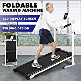 Artist Hand Folding Manual Treadmill Incline Home Gym Maching Cardio Stride Fitness Walking Workouts with Twin Flywheels No Monitor Required