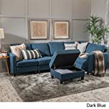 Christopher Knight Home 300117 Carolina Sectional Sofa Set with Ottoman, 6-Piece...