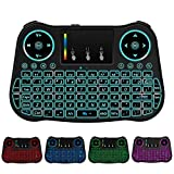 Mini Wireless Keyboard, Handheld Keyboard with Rainbow Backlit, Keyboard Remote for Smart TV,Android TV...