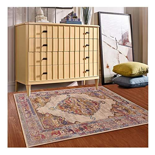 A-ZHP Alfombra del área Sala de alfombras Mesa de café del sofá del Dormitorio Manta de área de Moderno Europeo del Estilo Antideslizante Espesar Felpudo (Color : B, Size : 140 * 200cm)