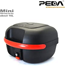 PEDA Motorcycle Scooter Top Case 16L Mini Small Rear Box PP Luggage Trunk Tool Box e Bike Electric Bicycle Tail box