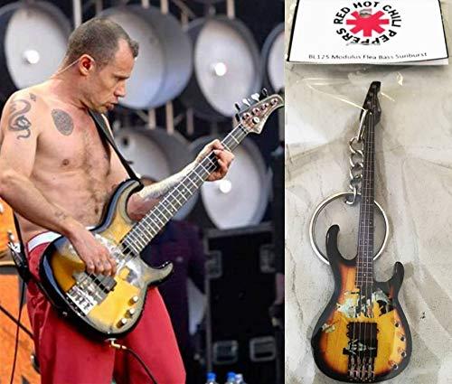 Schlüsselanhänger Gitarre Bass Modulus Floh Bass Red Hot Chili Peppers