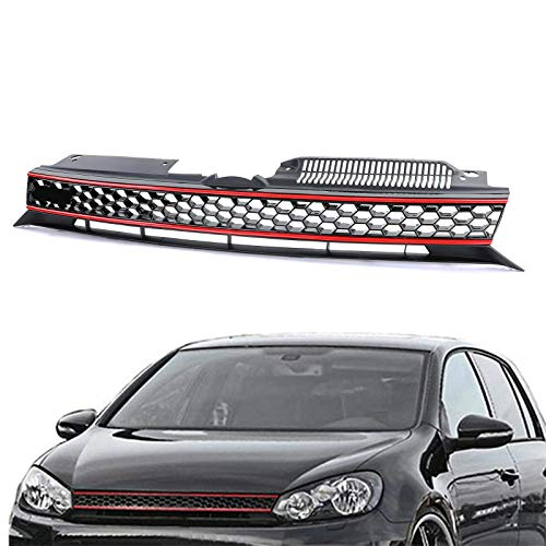Carparts-Online 26562 Waben Grill Kühlergrill ohne Emblem GTI Look