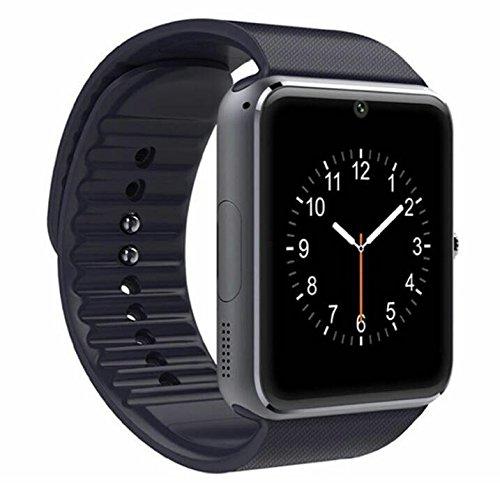 Bluetooth Smartwatch, TKSTAR Android Smart Smart Uhr, Armband Uhr Unterstützung SIM & TF Karte Telefon Smartwatch Benachrichtigung Erinnerung Schlaf Monitor Fitness Tracker uhr für Herren Damen (Gold)