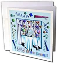 Birthday Room in Blue Happy Birthday 95 Years Old - Greeting Card, 6 x 6 inches, single (gc_31028_5)