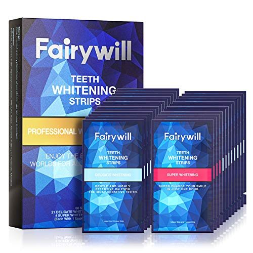 Ace Teeth Whitening Strips Pack of 50 pcs, Fairywill Professional Effect Whitening Strips Dental Safe Formula for Sensitive Teeth, Teeth Strips Remove All Manner of Tough Stains in 30 mins