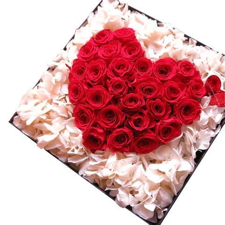 大きなスケールで見るとファイナンス画面結婚記念日 フラワーギフト プリザーブドフラワー  赤バラ ハート 箱開けてスマイル ボックス(L)入り プリザーブドフラワー