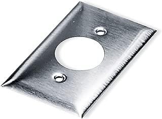 Single Receptacle Plate, 1 Gang, Silver