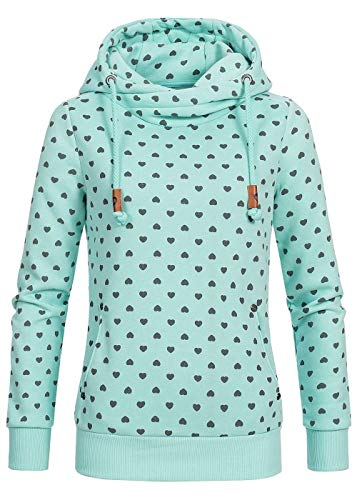 Damen Sweatjacke Shirt Kapuzenpullover Hochkragen Anker Sweater Hoodies S-5XL, Damen Kontrastfarbe Pulli Pullover Rollkragen Sweatshirt Kapuzenpulli Top