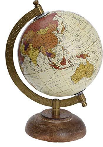 made2trade Globus im Retro Design - Beige - 12CM