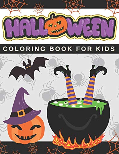 Halloween Coloring Book For Kids: Long Halloween 2020 Trick or Treat With Spooky Characters Halloween for Baby Gift Monster for Creative Girls and Boys