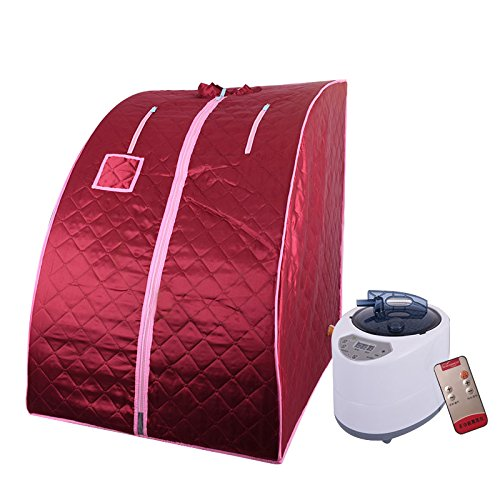 Cabina per Sauna Portatile, Sauna a Vapore, Sauna Spa Machine Sauna Domestica Sauna a Vapore Portatile (Rosso)