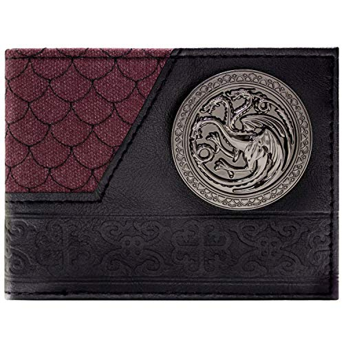 Game of Thrones - Portefeuille Rouge & Noir Targaryen avec Logo Dragon