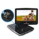 SYNAGY 10.1' Portable DVD Player CD Player with Swivel Screen Remote...