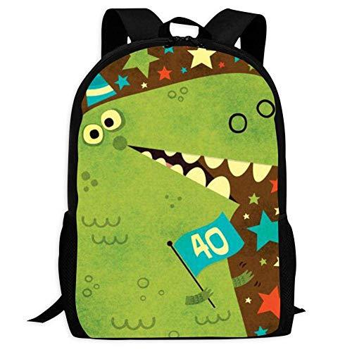 JNMJK Mochilas Escolares Dinosaurio de Dibujos Animados Bolsas de Hombro Unisex para niños