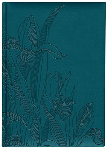 Pierre Belvedere Iris Collection Large Hardcover Notebook with Padded Embossed Cover, Teal (7706320)