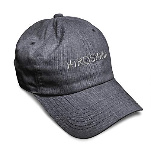 Speedy Pros Soft Baseball Cap Hiroshima Japan Embroidery Twill Cotton Dad Hats for Men & Women Buckle Closure Dark Denim Design Only