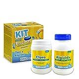 Kit Mantenimiento Mini Piscinas - 500 Gr Cloro + 500 Ml Algicida