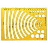 Folewr-8 Regla De Arco Irregular - Regla De 20 Cm Medida De La Regla De Modelo para El Diseño, Ingeniería, Suministros De Oficina