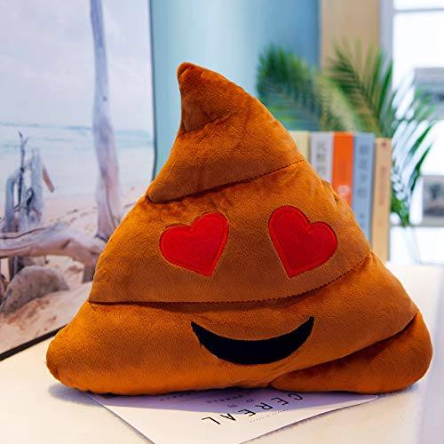 MLXZXQT Poop Plush Toy Funny Face Funny Poop Face Pillow Office Cushion 55CM Colored red emoji color.