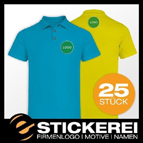 malango® 25x Poloshirt Polo Shirt inkl. Stickerei mit Firmenlogo Logo Motiv Wappen XXXL giftgrün