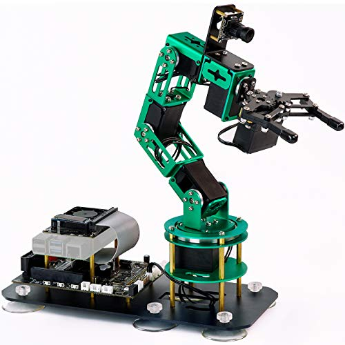 Yahboom Programmable Robotic Arm for Raspberry Pi 4B AI Smart Robotic Arm with Camera 6-DOF ROS Open Source for Adults (DOFBOT Without Raspberry Pi 4B)
