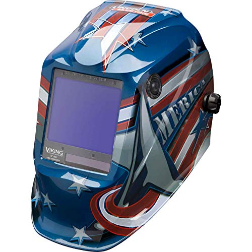 Lincoln Electric Viking 3350 All American, Auto Darkening Welding Helmet with 4C Lens Technology, K3175-4