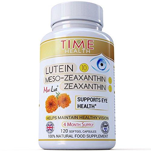 Premium MariLut Eye Formula – 10mg Lutein – 10mg Meso-Zeaxanthin – 2mg Zeaxanthin – Optimal Dose – Eyes and Vision Support – 4 Month Supply – 120 Softgels – Zero Additives (120 Softgel Bottle)