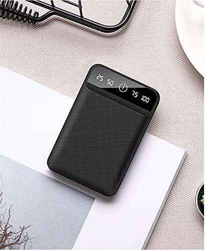 GLNuoke Banco de energía mini banco de energía 10000 mAh cargador portátil para iPhone Samsung Xiaomi mi Mobile batería externa Powerbank 10000 mAh Poverbank (color negro)