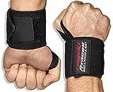 Handgelenkbandagen [2er Set] Starker Halt, 45cm Länge, (plus Trainingspläne) - Handgelenk Bandagen...