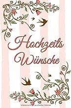 Hochzeits Wünsche A5 Blanko Softcover Gästebuch Zum