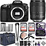 Canon EOS 90D DSLR Camera and 18-135mm Lens with Altura Photo Complete Accessory and Travel Bundle