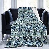 wobuzhidaoshamingzi Flanell Fleece Decke William Morris Bluebell Columbine Leichte superweiche gemütliche Bettdecke