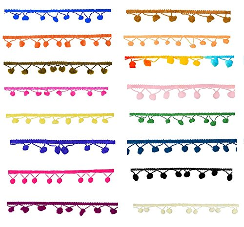 Goelx Pom Pom Lace Bundle for Decorations/Borders/Crafts - All