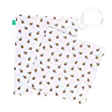 TOTSBOTS Bolsa de bebé húmeda y seca, bolsa de almacenamiento impermeable para cambiar pañales, ropa de bebé, pañales reutilizables, toallitas, accesorios para bebés (abejas buzzy)