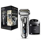 Braun Series 9 9295cc afeitadora eléctrica para hombres, en seco y en húmedo, y sistema de limpieza y carga - Premium Chrome