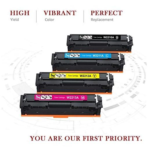 Toner Kingdom 207A Cartuchos de tóner Compatibles para HP 207A HP 207X HP W2210A W2211A W2212A W2213A para HP Color… 2