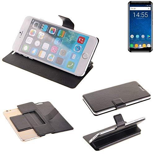 K-S-Trade® Schutz Hülle Für Oukitel K5000 Schutzhülle Flip Cover Handy Wallet Case Slim Handyhülle Bookstyle Schwarz