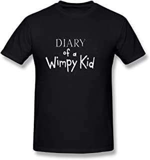 YANG LILI Neck Short Sleeve Cotton T Shirt for Men Diary of A Wimpy Kid Tee Shirts