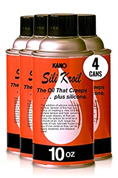 Kroil Penetrating Oil with Silicone  Silikroil  10 oz Aerosol Pack of 4